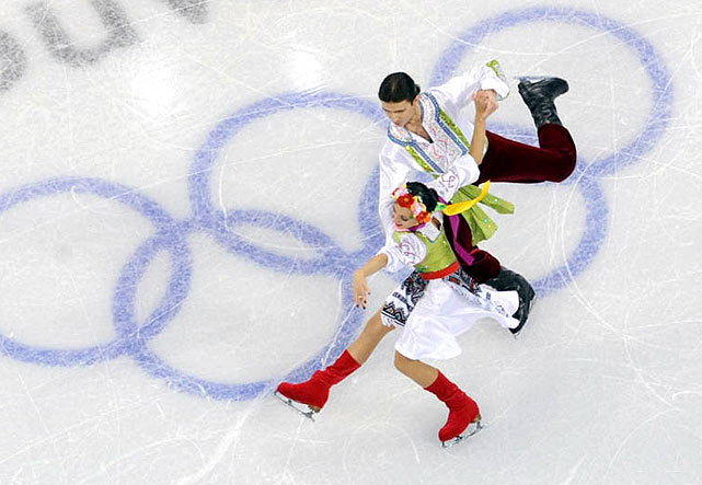 Anna Zadorozhniuk and Sergei Verbillo of Ukraine.