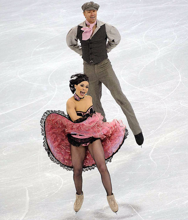 France's Isabelle Delobel and Olivier Schoenfelder.