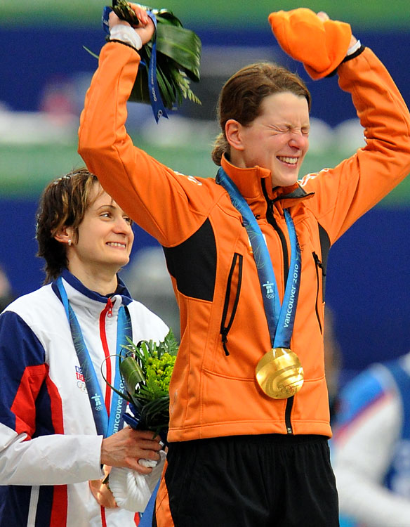Gold medalist Ireen Wust of the Netherlands.