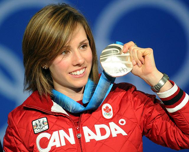 Canada's silver medalist Jennifer Heil.