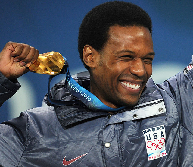 Gold medalist Shani Davis of the U.S.