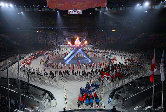 A festive crowd of 60,000 jammed into BC Place Stadium for the closing ceremony of the Vancouver Games. Here are some of SI's best shots from the event.