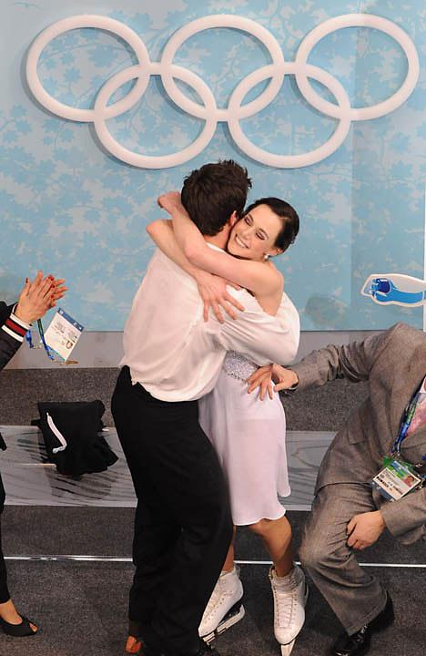 Tessa Virtue and Scott Moir won the gold.