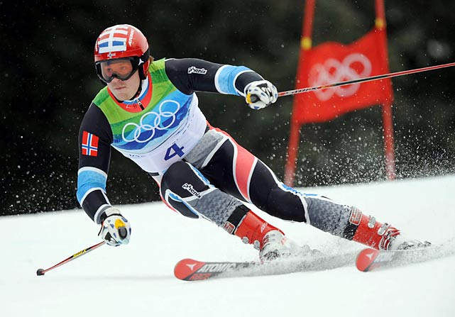 Silver medal winner Kjetil Jansrud of Norway was 0.39 seconds back in second, jumping up from 11th after the first run.