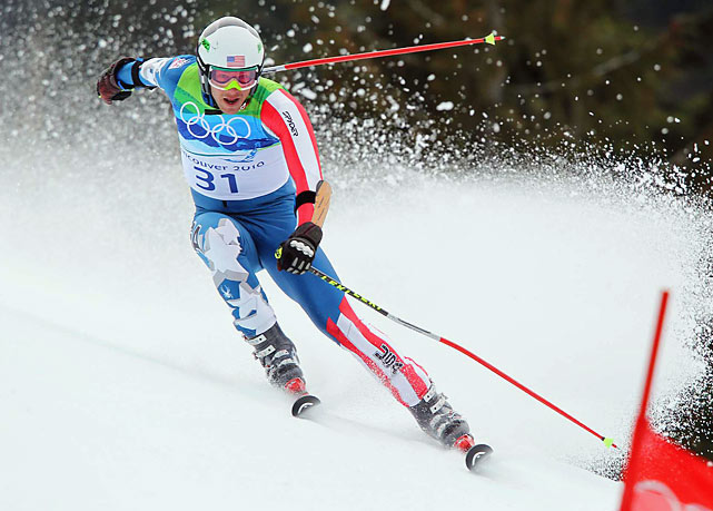 Bode Miller's bid for a record fourth Alpine medal at a single Winter Games was derailed when he couldn't correct his line coming out of a right-hand gate in the second half of his run.