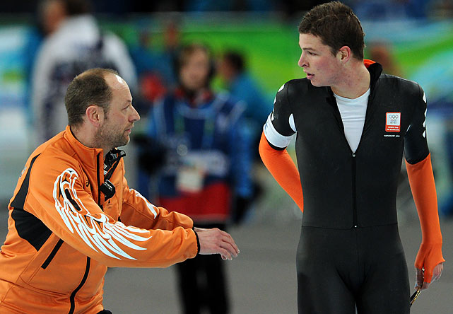 "Kramer blamed his coach for wrongly pointing him down the inside lane on the 17th of 25 laps, but said, ""At the end of the day, it is my responsibility. I am the skater on the ice, I have to do it."""
