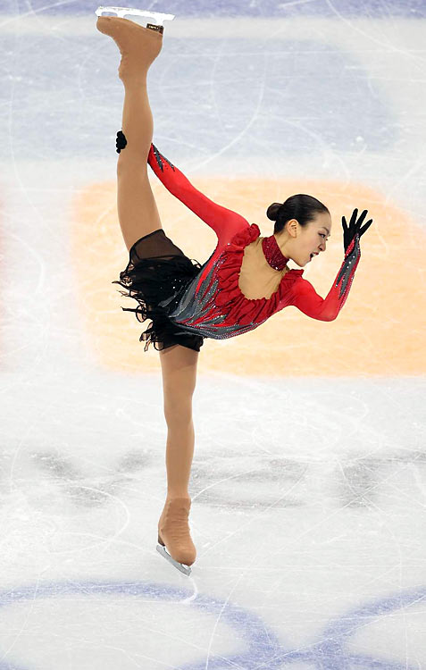 Mao Asada of Japan landed two triple axels and finished with the silver.