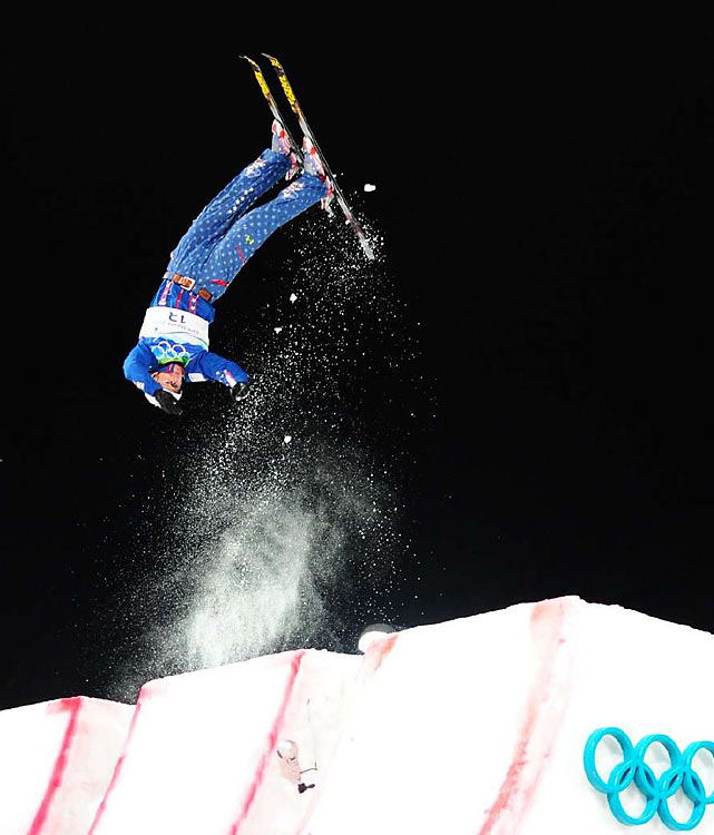 "Jeret ""Speedy"" Peterson of the U.S. won the silver medal in men's aerials on the strength of his patented ""Hurricane"" jump."