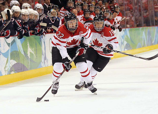 Canada's most famous female athlete, Hayley Wickenheiser earned her third gold medal in four Olympics. The Canadian women haven't lost an Olympic game since 1998.