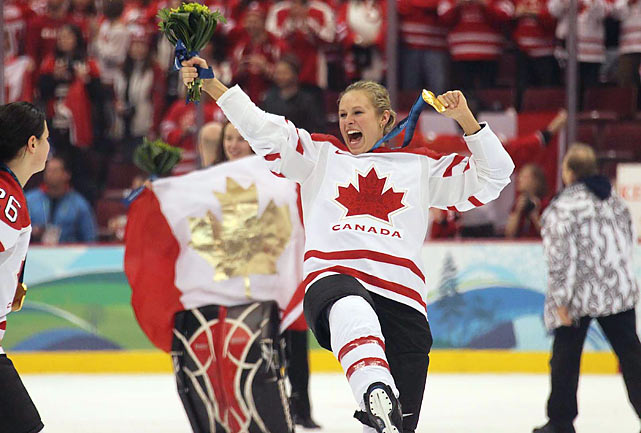 The Canadian women's hockey team beat the United States 2-0 for their third straight Olympic title.