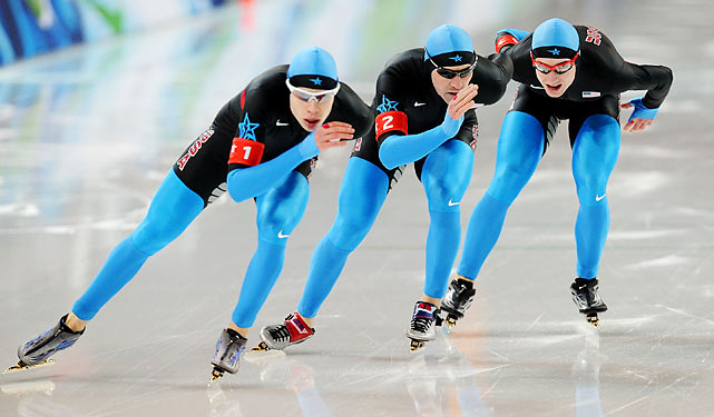 "The American men upset Sven Kramer and the powerful Dutch team in one team pursuit semifinal. 'Oh, my God, we beat the Dutch!""' said Brian Hansen. ""And then I thought, 'Oh, my God, we got a medal!""' The U.S. will face Canada in the gold-medal race Saturday."