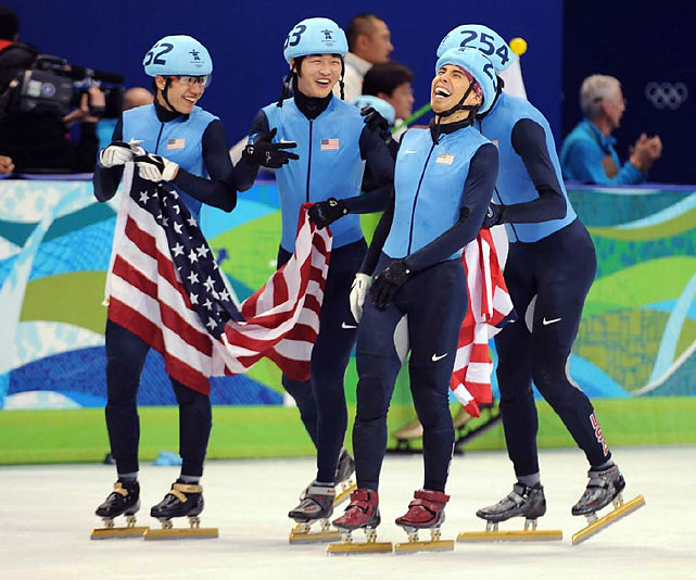 Apolo Ohno earned his third medal (one silver, two bronze) of these games and eighth overall by anchoring the U.S. squad in the 5,000-relay, finishing just behind South Korea in the 45-lap event.