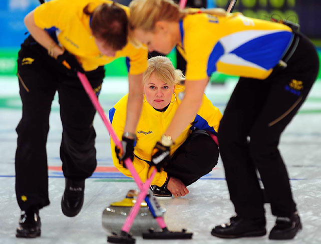 Sweden captured its second consecutive gold medal in women's curling.
