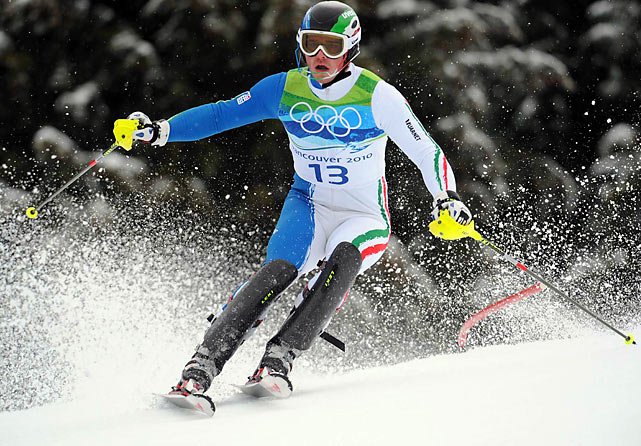 Giuliano Razzoli won the slalom, giving Italy its first Alpine medal in the Winter Games in 16 years.