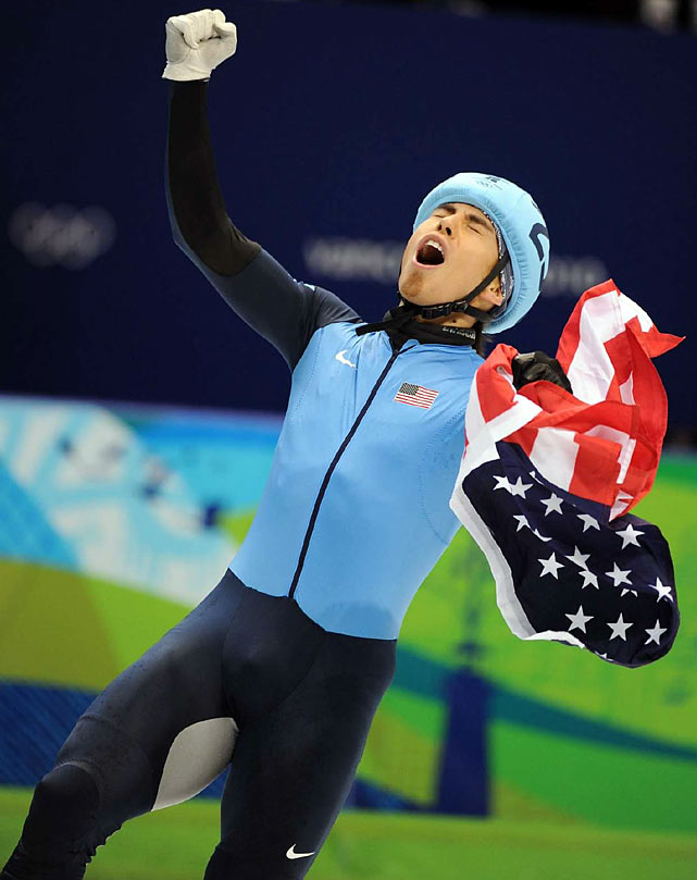 Apolo Anton Ohno tied Bonnie Blair for most medals won by a U.S. Winter Olympian, both with six.