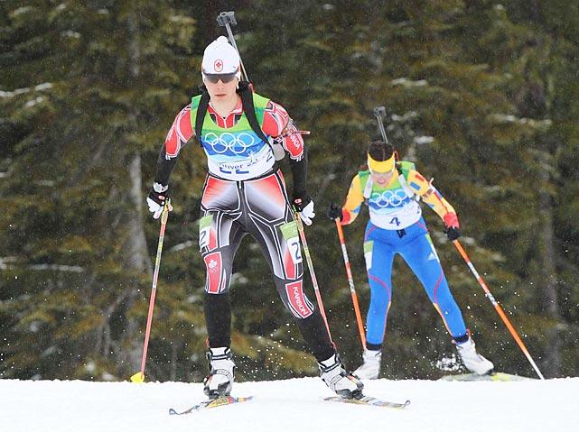The women's 7.5-kilometer biathlon sprint was won by Slovakia's Anastazia Kuzmina. Germany's Magdalena Neuner took the silver, finishing 1.5 seconds behind Kuzmina, and Marie Dorin of France won the bronze.