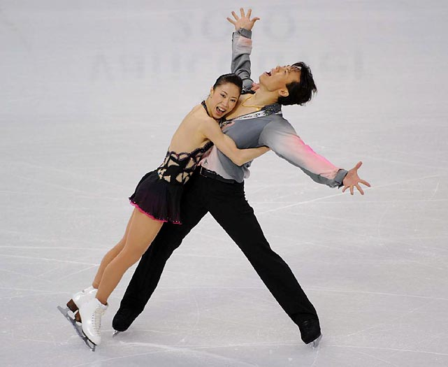 China's Shen Xue and Zhao Hongbo, who came out of retirement last year for one last shot at Olympic glory, shattered the record for most points in a short program, scoring 76.66 points. The pair, bronze medalists in the 2002 and 2006 Olympics, bested their previous record by 1.30 points.