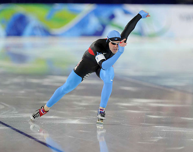 Chad Hedrick, who won a medal of each color at the 2006 Olympics, took a surprising bronze in the 1,000-meter speedskating.