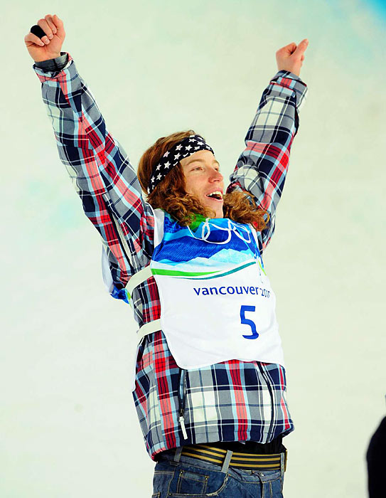 Shaun White scored a 48.4 on his final run, even though he was already assured of defending his Olympic title with a score of 46.8 on his first trip.
