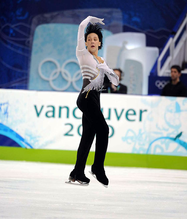 Johnny Weir (pictured) finished sixth for the U.S. and national champion Jeremy Abbott rallied to take ninth.