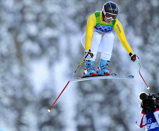 Competing in her first Olympics, Germany's Maria Riesch made up for her eighth-place downhill finish to win the super-combined on Thursday with two runs in a total time of 2 minutes, 9.14 seconds.