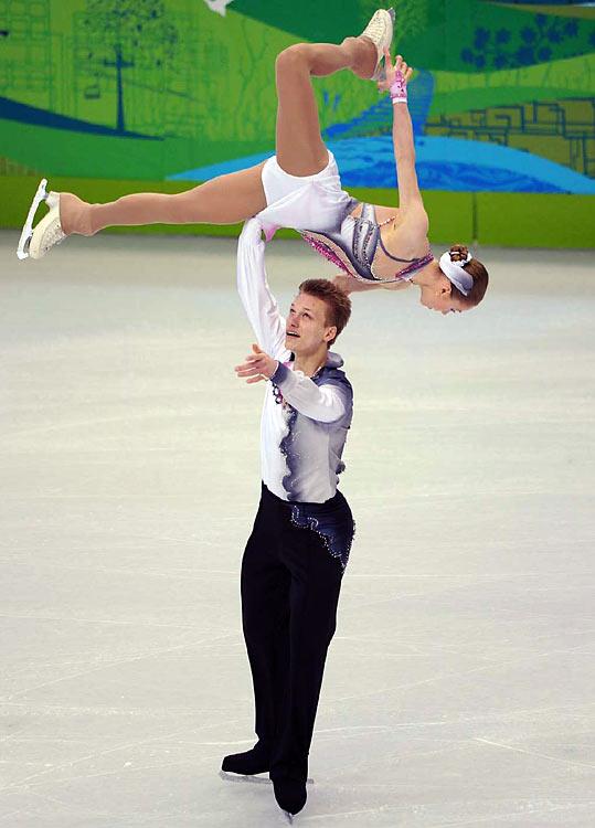 Poland's Joanna Sulej and Mateusz Chruscinski.