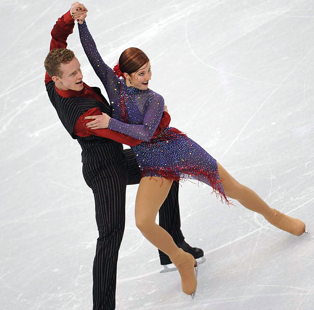Evan Bates and Emily Samuelson of the U.S.