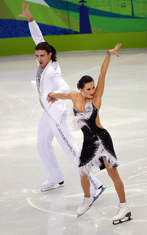 Anna Zadorozhniuk and Sergei Verbillo of the Ukraine.