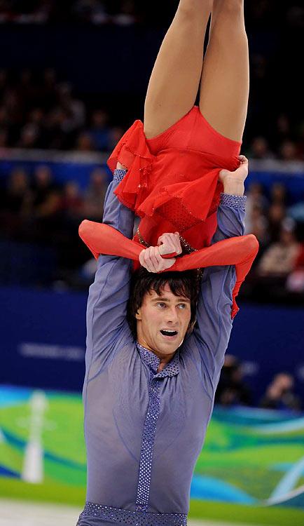 Russia's Yuko Kavaguti and Alexander Smirnov.