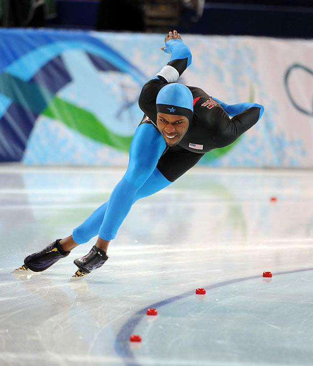 Already the first African-American to win an individual medal in the Winter Olympics, Shani Davis made headlines again when he became the first person to win back-to-back 1,000-meter speedskating titles. Davis was favored to win the 1500-meter too, but received a silver medal after being edged out by Dutch skater Mark Tuitert.
