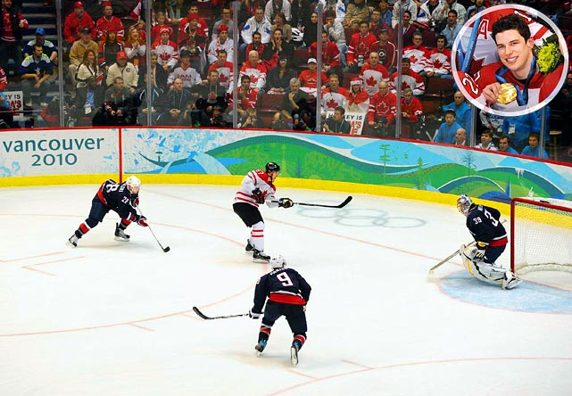 In perhaps the last Olympics to feature NHL players, Sidney Crosby proved that everything he touches turns to gold by scoring the game-winner in Canada's 3-2 overtime win over the U.S. in the gold medal game.