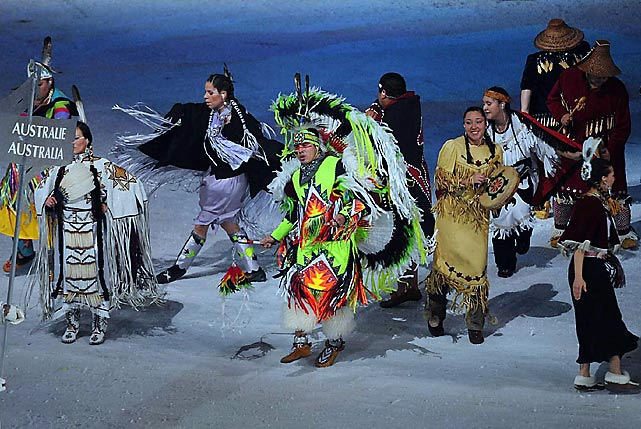 The ceremonies highlighted performers and traditions from Canada's aboriginal communities.