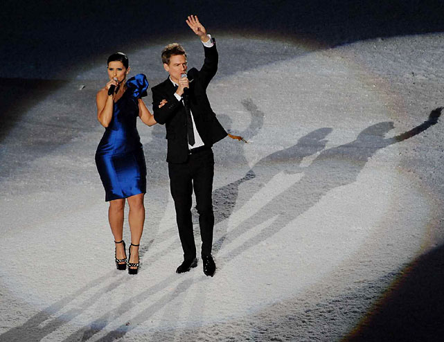 Canadians Nelly Furtado and Bryan Adams sang a tribute to the athletes.