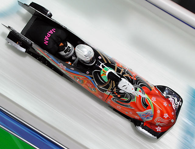 Japan's bobsleigh piloted by Minami Hino.