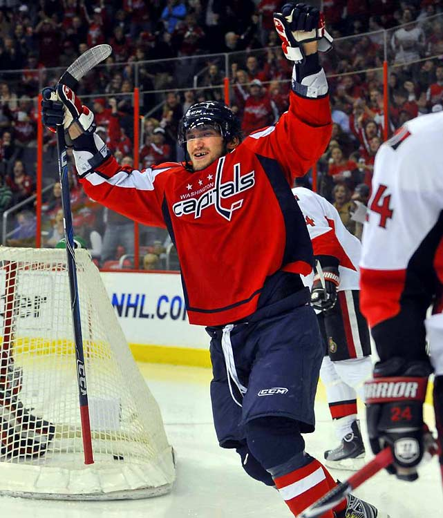 He's not the best player in the world simply because of his preternatural skill and strength. It's because he embraces the big moments. Just think back to last season's playoff series against the Penguins. Ovechkin's at his best when the stakes are highest, and there's nothing he wants more than to win gold on Canadian ice. He's had success representing his country in Canada before: at 17, he scored six goals in six games to lead Russia to gold at the 2003 World Juniors in Halifax.