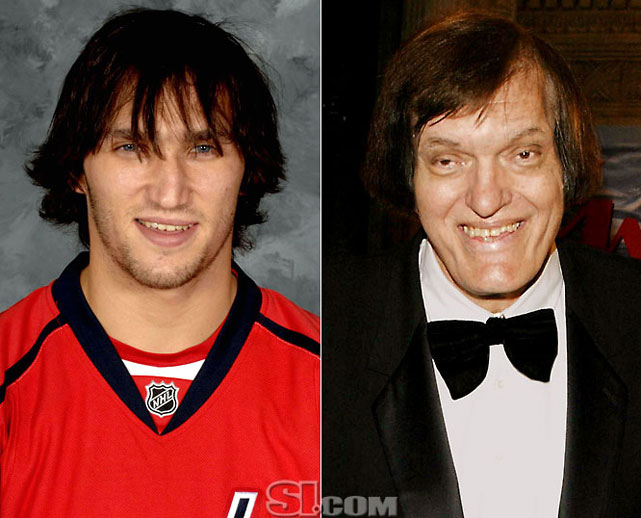 <b>Alex Ovechkin</b> - <i>left wing, Russia</i><br><b>Richard Kiel</b> - <i>actor</i>
