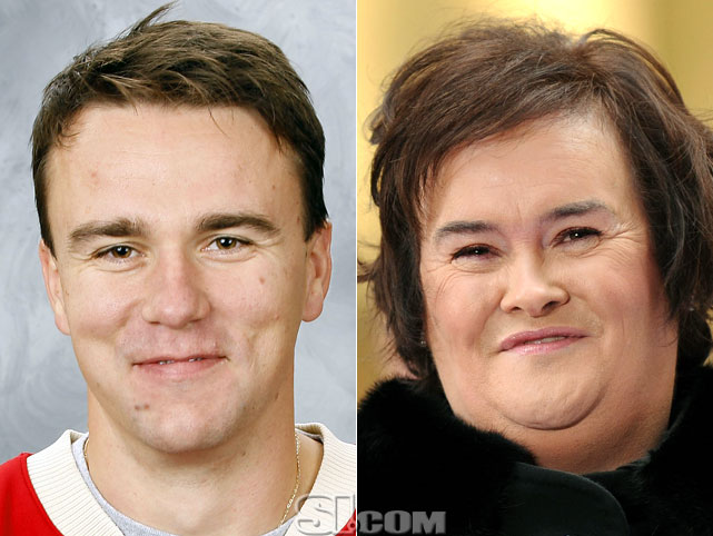 <b>Marek Zidlicky</b> - <i>defensman, Czech Republic</i><br><b>Susan Boyle</b> - <i>singer</i>