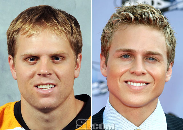 <b>Phil Kessel</b> - <i>right wing, USA</i><br><b>Spencer Pratt</b> - <i>TV personality</i>