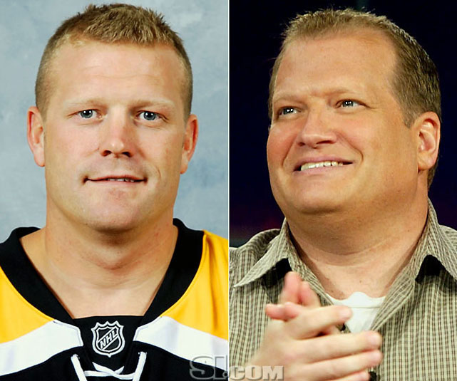 <b>Tim Thomas</b> - <i>goalie, USA</i><br><b>Drew Carey</b> - <i>comedian/host</i>