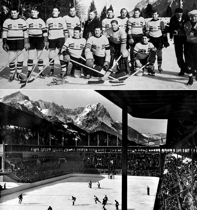 Icing a 12-man squad comprised primarily of Canadian-raised and trained players, the Lions earned a controversial gold by going 5-1-1 at the 1936 Garmisch-Partenkirchen Games. Goalie Jimmy Foster, a two-time Allan Cup-winner with the Moncton Hawks, allowed just three goals in seven games as the Brits played the US to a scoreless tie then stunned the Canucks 2-1. A 5-0 win over the Czechs in the finale sealed the country's first, and only, major hockey title.