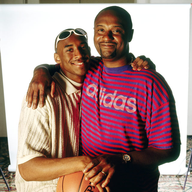 "Like father, like son. (Only the son went on to become a better basketball player.) Bryant poses with his father, Joe ""Jellybean"" Bryant, a former Philadelphia 76er and former coach of the WNBA's L.A. Sparks."