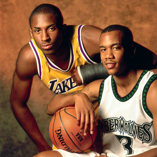 My how things have changed since this 1997 photo. Kobe remains a top NBA player while Stephon Marbury is playing in China.