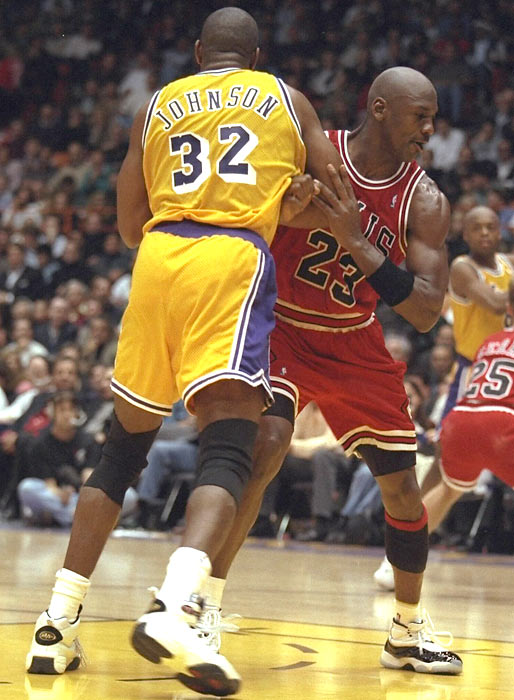 Chicago's 99-84 road win over the L.A. Lakers  -- with Michael Jordan and Magic Johnson meeting on the court for the first time since Game 5 of the 1991 NBA Finals -- sets a record as the highest-rated NBA game ever on cable TV.
