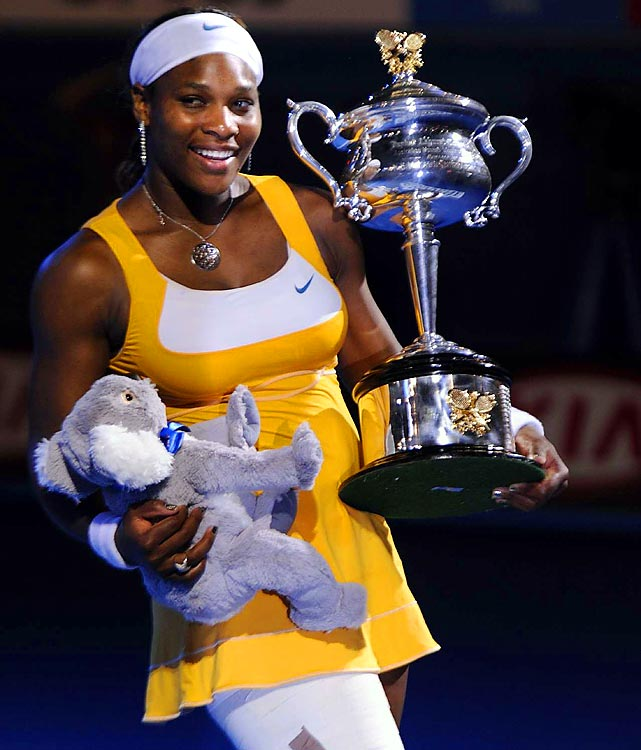 "<i>""Hey guys! I'm so excited. I can't believe I won my 12th grand slam. It seems like a dream. I have not slept. I can't sleep. Tks4the support."" <br>(Jan 30) </i><br><br>We're excited for you, Serena!"
