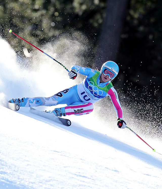 Julia Mancuso earned silver in the downhill, giving the U.S. its first 1-2 finish in an Olympic Alpine event since 1984.