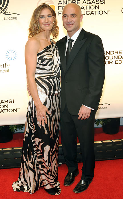 Andre Agassi and Steffi Graf arrive at the  14th annual Andre Agassi Foundation for Education's Grand Slam in Las Vegas