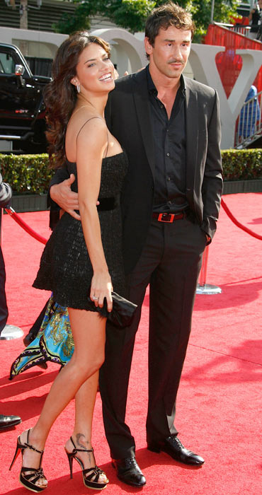 Adriana Lima and Marco Jaric arrive at the 2008 ESPY Awards.