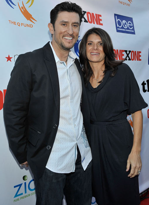 Nomar Garciaparra and Mia Hamm arrives at the Second Annual ONEXONE Fundraiser in San Francisco.