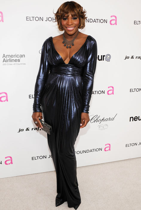 Serena Williams attends the 18th Annual Elton John AIDS Foundation Academy Award Party at Pacific Design Center in West Hollywood, Calif.