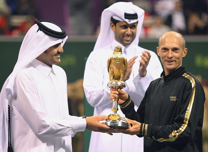def. Rafael Nadal, 0-6, 7-6(8), 6-4 ATP World Tour 250, Hard, $1,024,000 Doha, Qatar